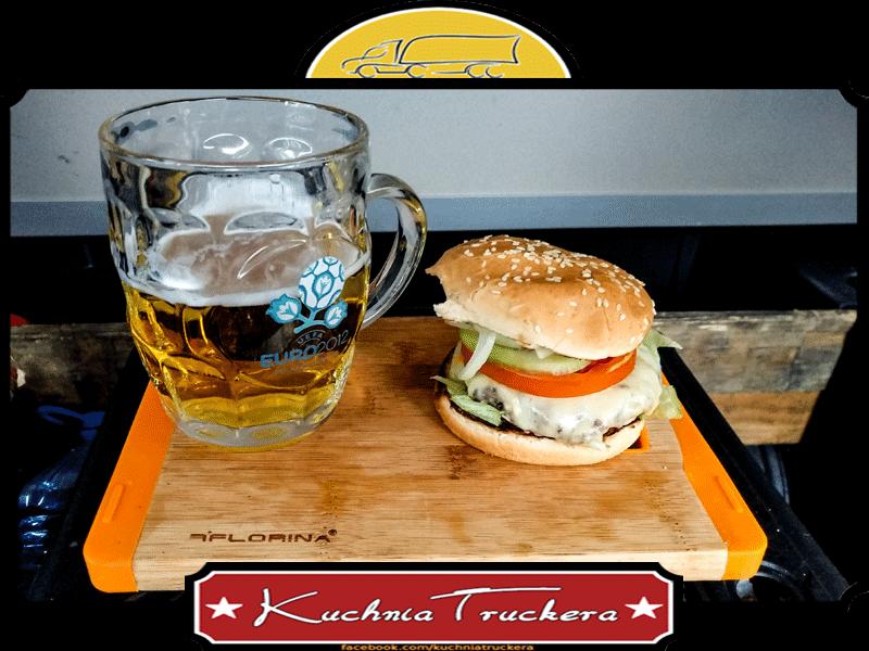 Truckerski cheeseburger z podwójnym serem