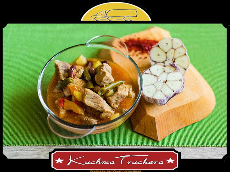Ostra zupa węgierska z szynką - słoiki w trasę